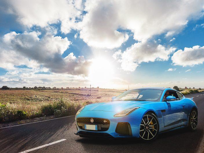 Jaguar F-Type Compositing on a Sicilian countryside landscape
